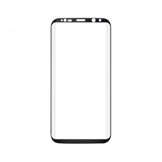 Samsung S8 Panzerglas Curved Schwarz