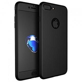 Schwarz 360° Full Cover Case iPhone 7 Plus + Panzerglas
