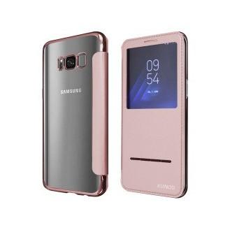 Xundo View Book Case Galaxy S8+ Rosegold