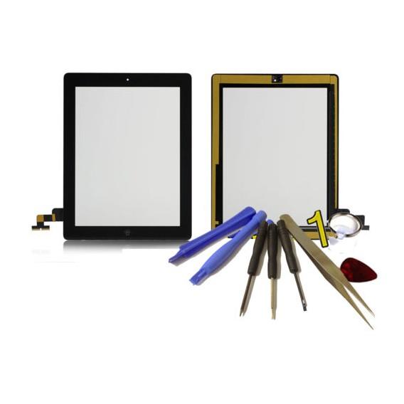 iPad 2 Touchscreen Glas Schwarz Homebutton und Kleber