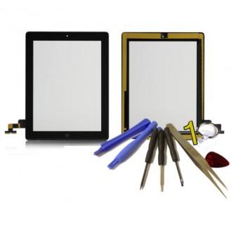 iPad 2 Touchscreen Glas Schwarz Homebutton und Kleber vorinstaliert