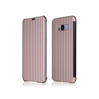 Book Case Galaxy S8 Plus Rosegold Plato
