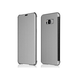 Book Case Galaxy S8 Silber Plato