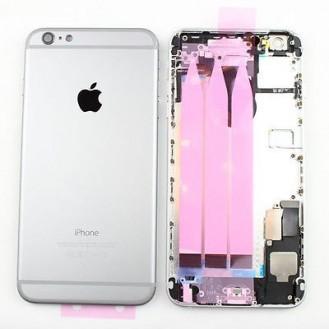 iPhone 6 Plus Backcover Gehäuse Silber Weiss Vormontiert