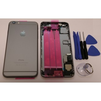iPhone 6 Plus Backcover Gehäuse Grau Vormontiert  A1522, A1524, A1593
