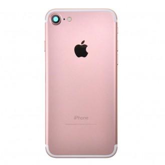 iPhone 7 Backcover Gehäuse Rahmen mit Tasten Vormontiert Rosa Gold