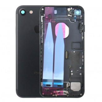 iPhone 7 Backcover Gehäuse Rahmen mit Tasten Vormontiert Schwarz