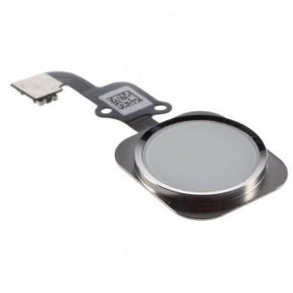iPhone 6S Home Button Flexkabel + Home Button - Weiss / Silber