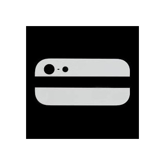 Kamera Back Rück Glas Oben Unten Abdeckung Weiss iPhone 5