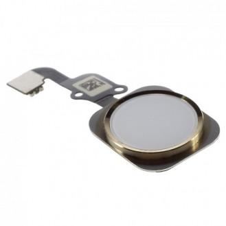 iPhone 6S Home Button Flexkabel + Home Button - Weiss / Gold A1633, A1688, A1700