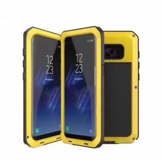 POWERFUL 360° Alu Hülle G955F Galaxy S8 Plus Gelb