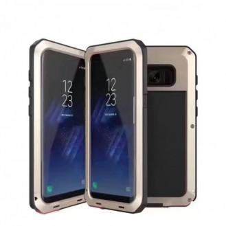 POWERFUL 360° Alu Hülle G955F Galaxy S8 Plus Gold