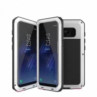 POWERFUL 360° Alu Hülle G955F Galaxy S8 Plus Weiss