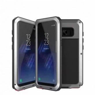 POWERFUL 360° Alu Hülle G955F Galaxy S8 Plus Grau