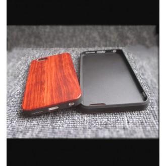 ROCK Holz Cover Hülle für iPhone 7 Plus Black Rose