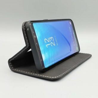 Braun Edel Leder Etui Case Cover Galaxy Note 8