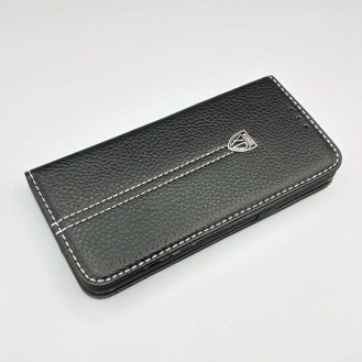 Schwarz Edel Leder Etui Case Cover Galaxy Note 8