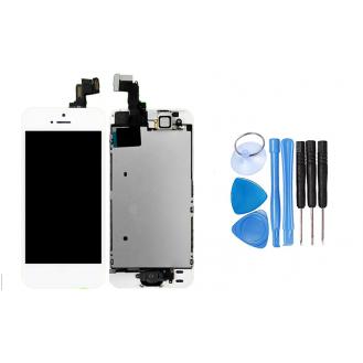 iPhone 5S LCD AAA VOLL VORMONTIERT Weiss