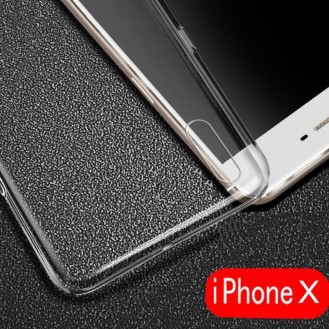 Transparent TPU Case für iPhone X Silikon Hülle