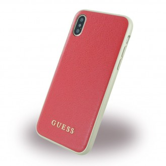 Guess - Iridescent - Hardcover - iPhone X Beige