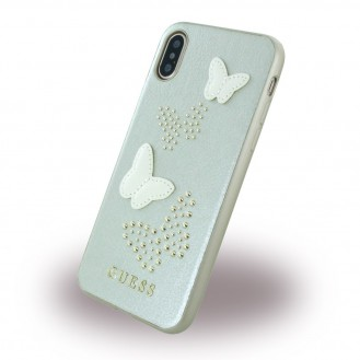Guess - Studs and Sparkles - Hardcover - Apple iPhone X Grün
