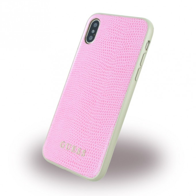 Guess - Studs and Sparkles - Hardcover - iPhone X Rosa