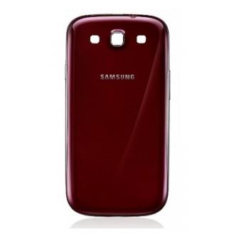Galaxy S3 Akkudeckel Schale Battery Cover Gehäuse Rot