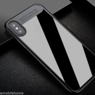 Baseus Silikon PC Hülle iPhone X Schwarz