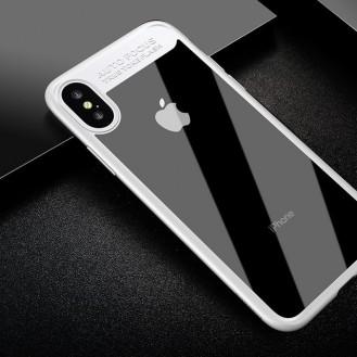 Baseus Silikon PC Hülle iPhone X Weiss
