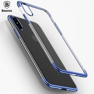 Baseus Silikon Hülle iPhone X Blau