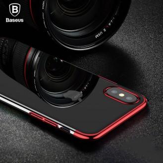 Baseus Silikon Hülle iPhone X Rot