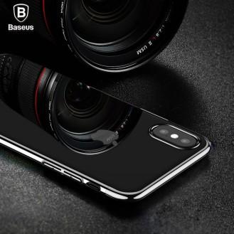 Baseus Silikon Hülle iPhone X Schwarz
