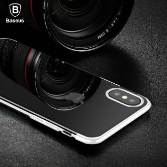 Baseus Silikon Hülle iPhone X Weiss