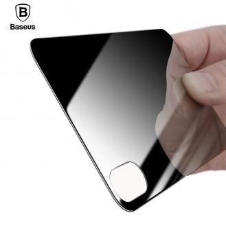 Baseus Panzerglas Rückseite Schwarz iPhone X