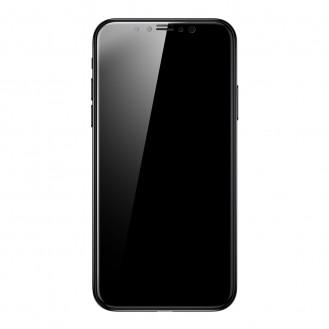 Baseus PET Panzerglas 0.23mm Schwarz iPhone X