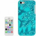 Türkis Blumen Hülle Hard Case iPhone 5C