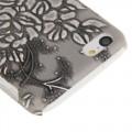 Grau Blumen Hülle Hard Case iPhone 5C