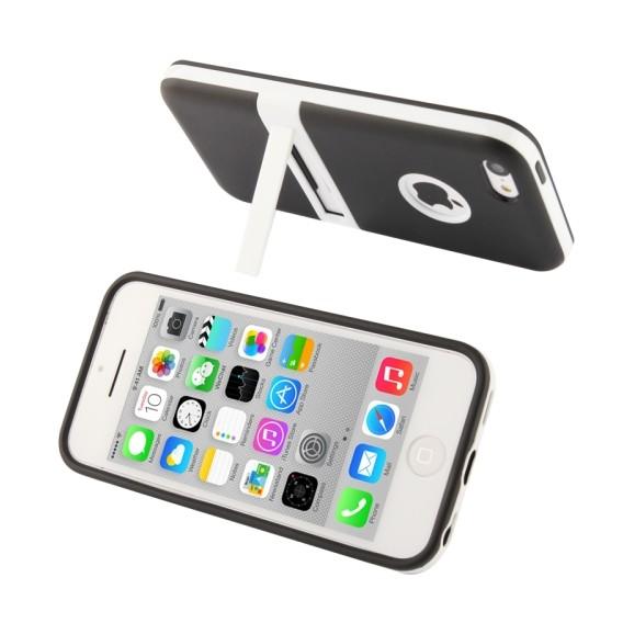 Schwarz mit Ständer Hülle Hard Case iPhone 5C