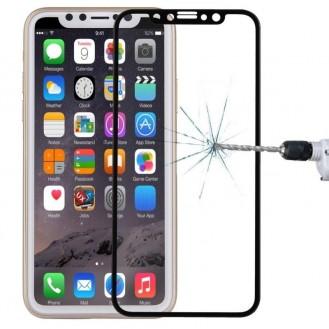 Curved Panzerglas 4D Schwarz iPhone X