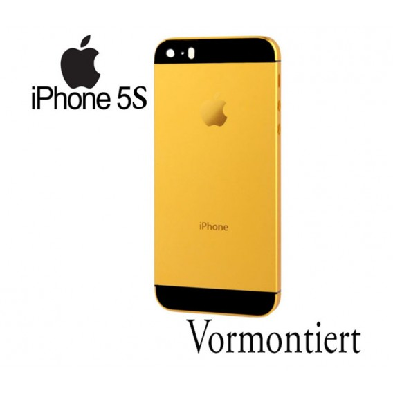 iPhone 5S Umbauset Backcover Middle Frame Akkudeckel Gold