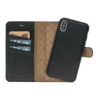 Bouletta Echt Leder Magic Wallet iPhone X Schwarz