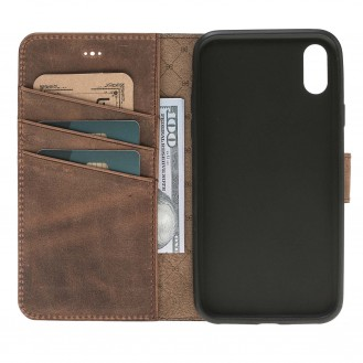 Bouletta Echt Leder iPhone X Book Wallet Braun