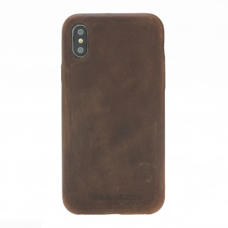 Bouletta Echt Leder Case iPhone X Ultra Cover Braun