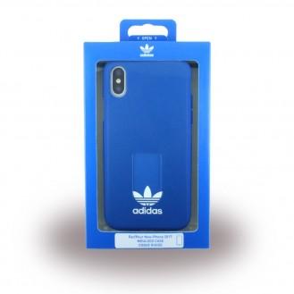 Adidas - Moulded - Kunstleder Hardcover - Apple iPhone X Blau