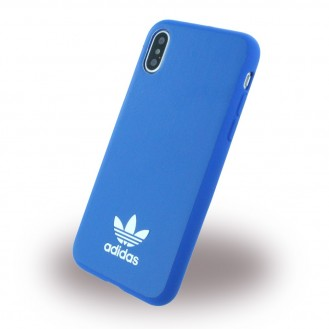 Adidas - Moulded - Kunstleder Hardcover - Apple iPhone X Blau