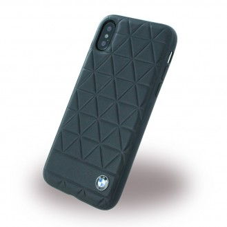 BMW - Signature Hexagon - Leder Hardcover - Apple iPhone X