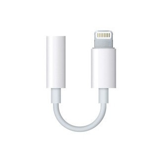 Apple Headset Jack Adapter MMX62ZM/A Lightning auf 3,5mm