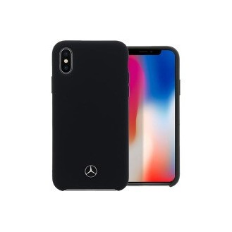 Mercedes TPU Silicone Case Lining for iPhone X Black