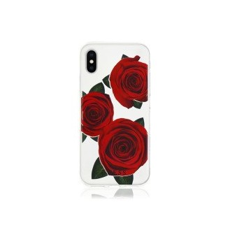 Faceplate Guess Flower Desire für Apple iPhone X Transparent