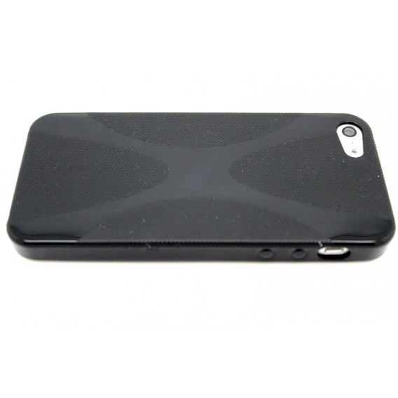 Schwarz TPU Silikon Schutzhülle Case iPhone 5 / 5S / SE